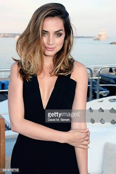 Ana de Armas attends The Weinstein Company's HANDS OF STONE cocktail party hosted by Absolut Elyx on May 14 2016 in Cannes France