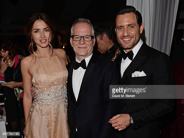 Ana de Armas Cannes Film Festival Director Thierry Fremaux and Edgar Ramirez attend The Weinstein Company's HANDS OF STONE After Party In Partnership...
