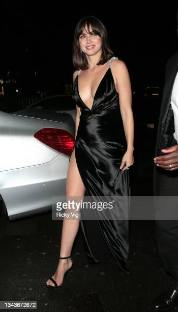 Ana de Armas seen attending Bond: No Time To Die - world film premiere afterparties on September 28, 2021 in London, England.
