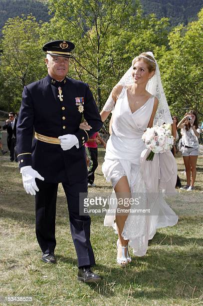 Ana de la Lastra attends her wedding with Colombian actor Juan Pablo Shuk and Ana De La Lastra on September 22 2012 in Biescas Spain