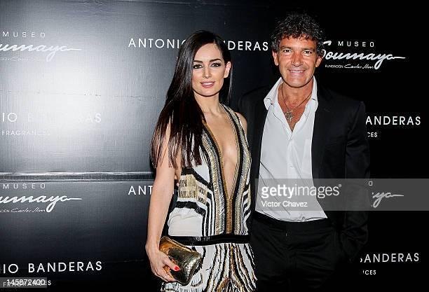 Ana De La Reguera and actor Antonio Banderas attend the Make it Short by Antonio Banderas at Museo Soumaya>> on June 6 2012 in Mexico City Mexico