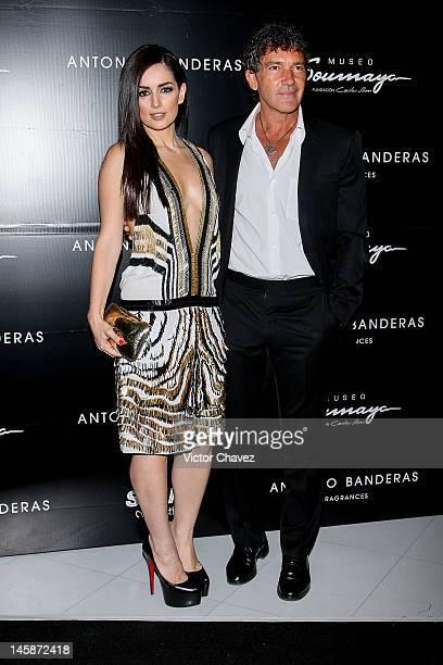 Ana De La Reguera and actor Antonio Banderas attend the 'Make it Short' by Antonio Banderas at Museo Soumaya>> on June 6 2012 in Mexico City Mexico
