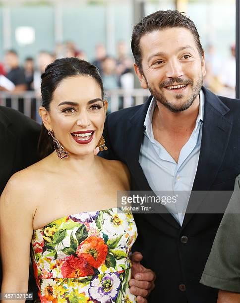 "Ana de la Reguera and Diego Luna arrive at the Los Angeles premiere of ""Book Of Life"" held at Regal Cinemas L.A. Live on October 12, 2014 in Los..."