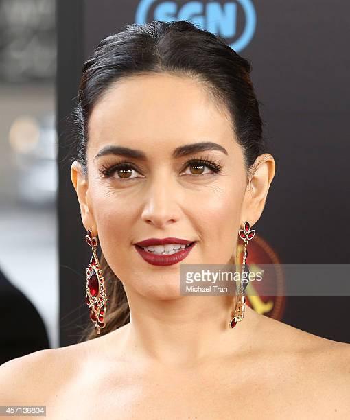 Ana de la Reguera arrives at the Los Angeles premiere of 'Book Of Life' held at Regal Cinemas LA Live on October 12 2014 in Los Angeles California