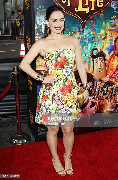 Ana de la Reguera arrives at the Los Angeles premiere of Book Of Life held at Regal Cinemas LA Live on October 12 2014 in Los Angeles California