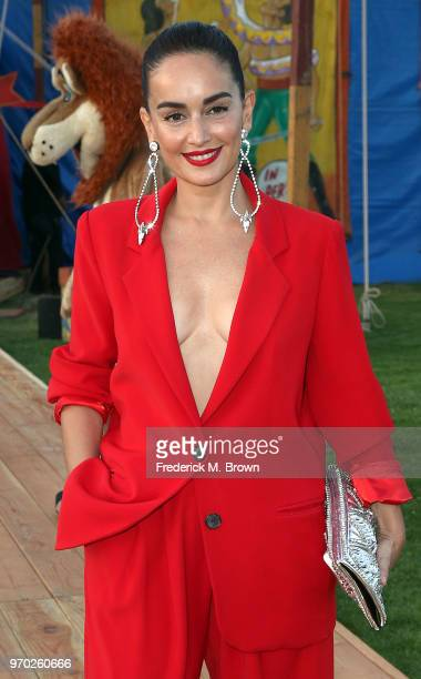 Ana de la Reguera attends Moschino Spring/Summer 19 Menswear and Women's Resort Collection at the Los Angeles Equestrian Center on June 8 2018 in...