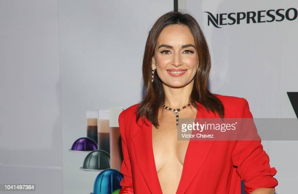 Ana de la Reguera attends the Nespresso Vertuo launch on September 26 2018 at Piacere in Mexico City Mexico