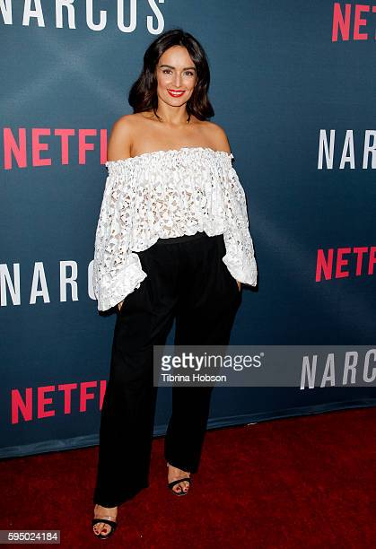 Ana de la Reguera attends the premiere of Netflix's 'Narcos' season 2 at ArcLight Cinemas on August 24 2016 in Hollywood California