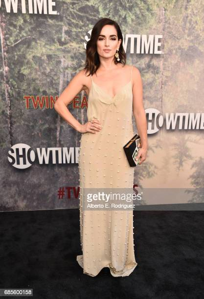Ana de la Reguera attends the premiere of Showtime's Twin Peaks at The Theatre at Ace Hotel on May 19 2017 in Los Angeles California