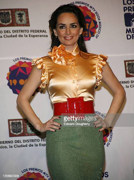 Ana De La Reguera during MTV Video Music Awards Latin America 2006 Press Room at Palacios de los Deportes in Mexico City Mexico