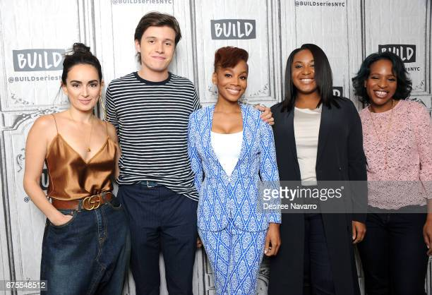 Ana de la Reguera Nick Robinson Anika Noni Rose Stella Meghie and Nicola Yoon attend Build Series to discuss 'Everything Everything' at Build Studio...