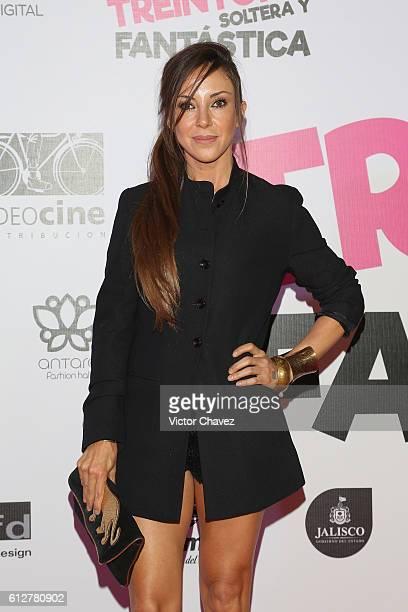 Ana de los Riscos attends the 'Treintona Soltera Y Fantastica' Mexico City premiere at Cinemex Antara Polanco on October 4 2016 in Mexico City Mexico