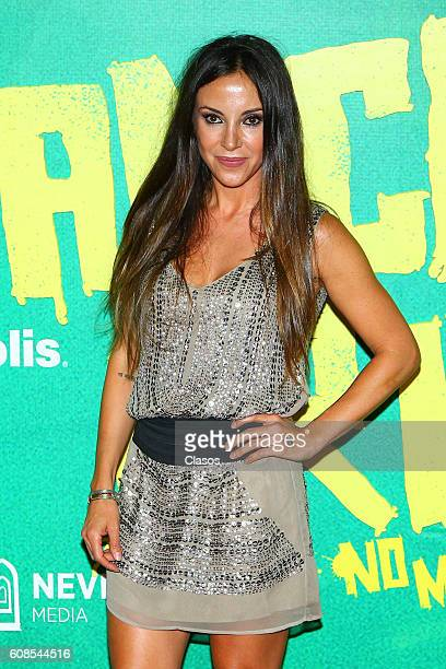 Ana de los Riscos poses for pictures on the red carpet prior No Manches Frida movie premiere on September 13 2016 in Mexico City Mexico