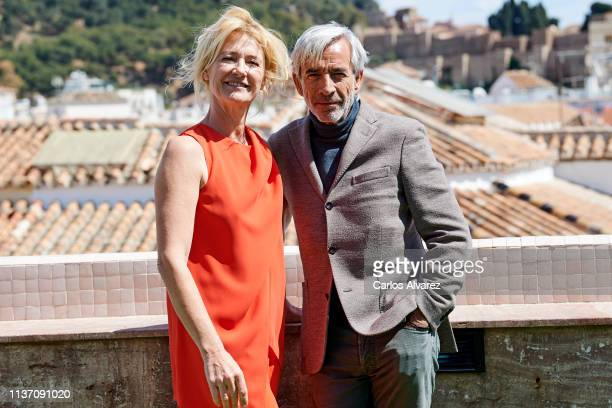 Ana Duato and Imanol Arias attend 20th season of 'Cuentame Como Paso' presentation at the Larios Hotel on March 20 2019 in Malaga Spain