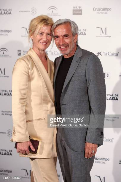Ana Duato and Imanol Arias attend 'Los dias que vendran' premiere at the Cervantes Theater during the 22nd Malaga Film Festival on March 20, 2019 in...