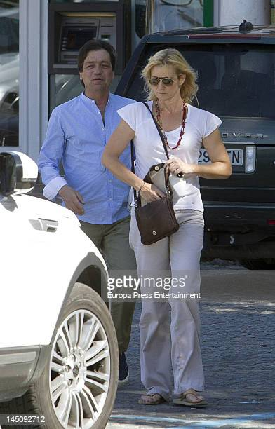 Ana Duato and Miguel Angel Bernardeau are seen on May 22 2012 in Madrid Spain