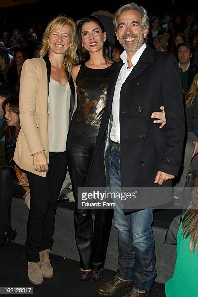Ana Duato, Irene Meritxell and Imanol Arias attend a fashion show during the Mercedes Benz Fashion Week Madrid Fall/Winter 2013/14 at Ifema on...