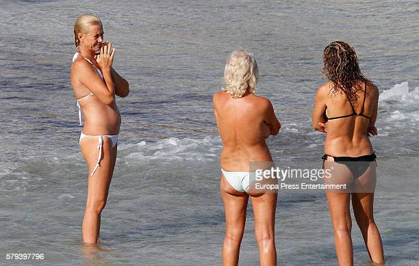 Ana Duato is seen on July 14 2016 in Ibiza Spain