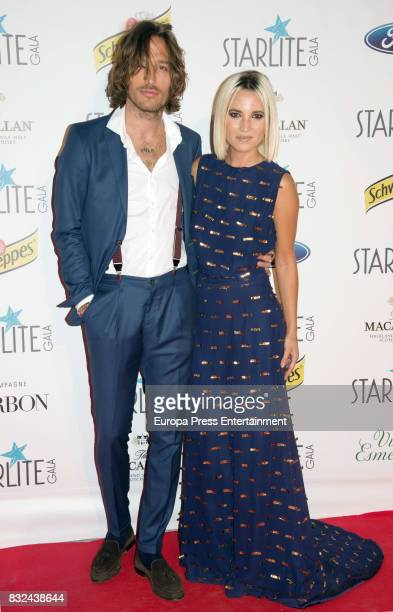 Ana Fernandez and Adrian Roma attend Starlite Gala on August 13 2017 in Marbella Spain