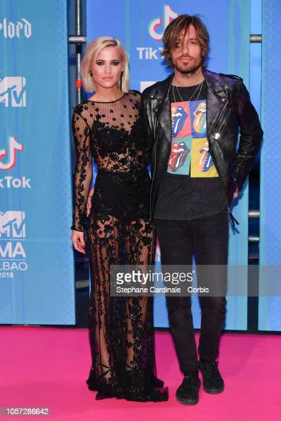 Ana Fernandez and Adrian Roma attend the MTV EMAs 2018 on November 4 2018 in Bilbao Spain