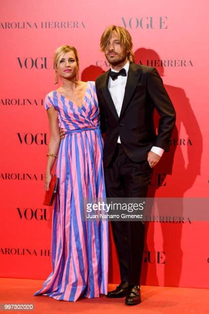 Ana Fernandez and Adrian Roma attend Vogue 30th Anniversary Party at Casa Velazquez on July 12 2018 in Madrid Spain