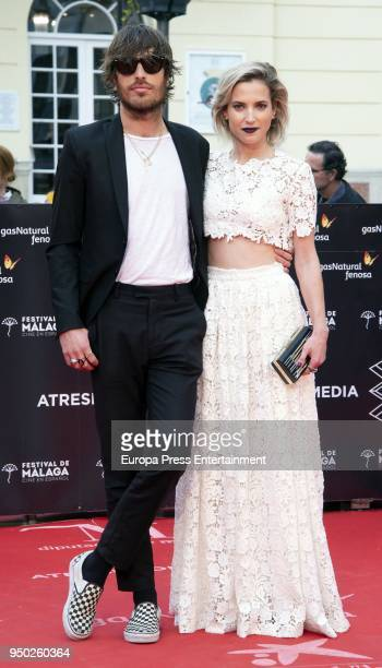 Ana Fernandez and Adrian Roma during the 21th Malaga Film Festival closing ceremony at the Cervantes Teather on April 21 2018 in Malaga Spain