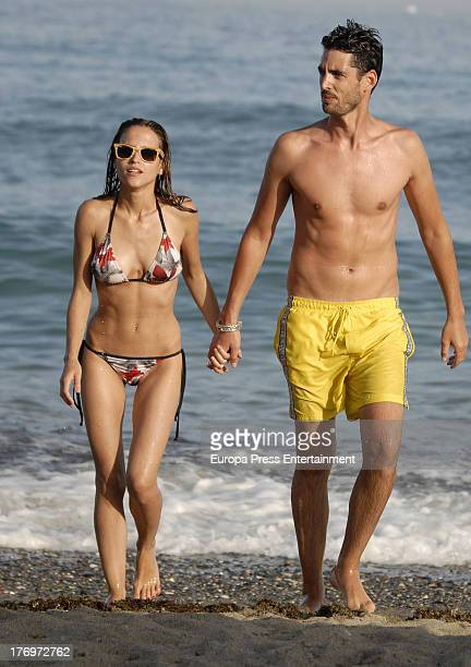 Ana Fernandez and Santi Trancho are seen on August 12 2013 in Marbella Spain