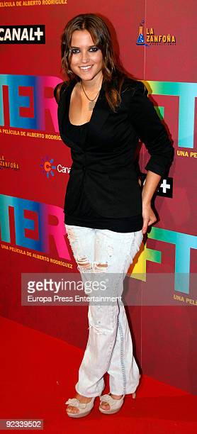Ana Fernandez attend the premiere of 'After' on October 23 2009 in Madrid Spain
