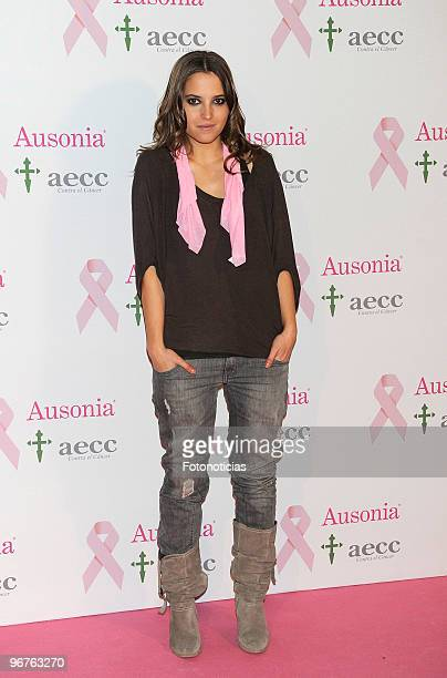 Ana Fernandez attends 'Ausonia Against Breast Cancer' event at Moma on February 16 2010 in Madrid Spain