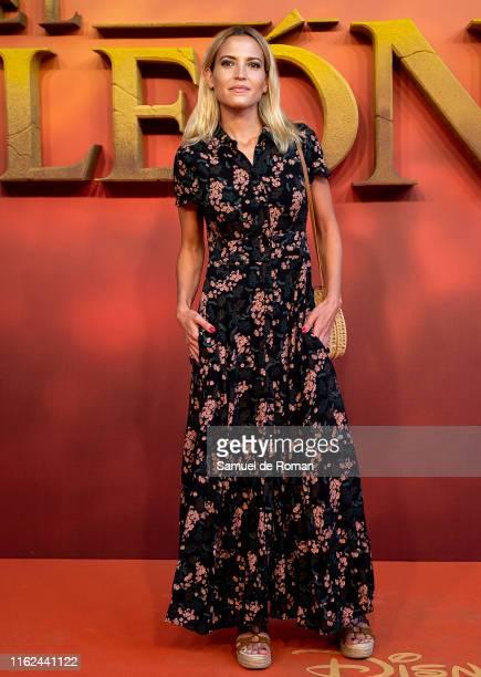 Ana Fernandez attends El Rey Leon Madrid Premiere on July 16 2019 in Madrid Spain