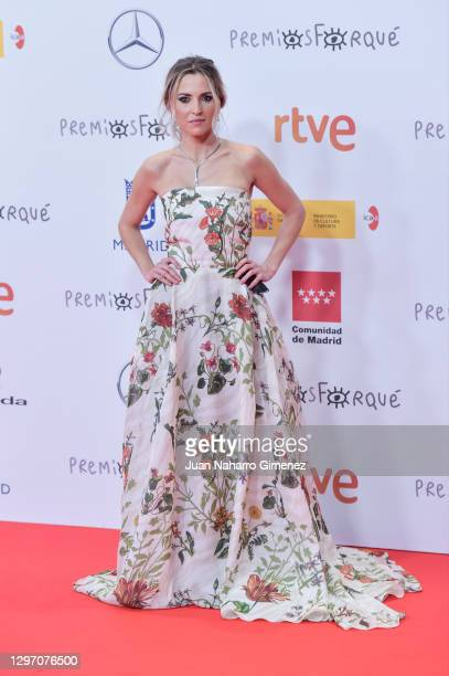 Ana Fernandez attends 'Jose Maria Forque Awards' 2021 red carpet at IFEMA on January 16, 2021 in Madrid, Spain.
