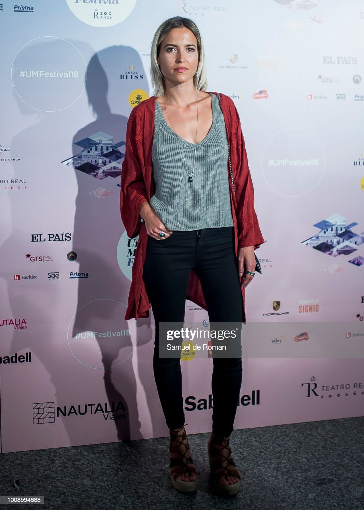 Ana Fernandez attends Pablo Alboran concert in Madrid on July 31, 2018 in Madrid, Spain.