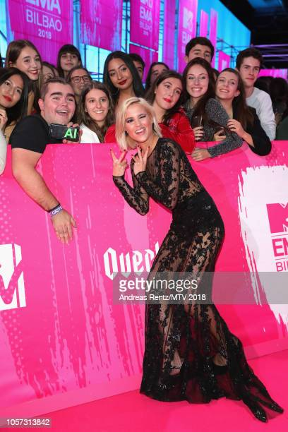 Ana Fernandez attends the MTV EMAs 2018 at Bilbao Exhibition Centre on November 4 2018 in Bilbao Spain