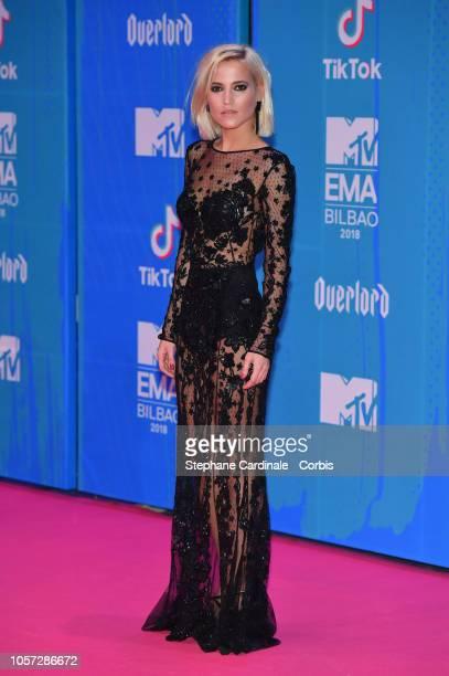 Ana Fernandez attends the MTV EMAs 2018 on November 4 2018 in Bilbao Spain