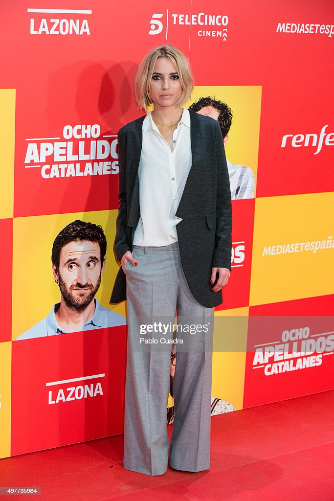 Ana Fernandez attends the 'Ocho Apellidos Catalantes' Premiere at capitol Cinema on November 18, 2015 in Madrid, Spain.