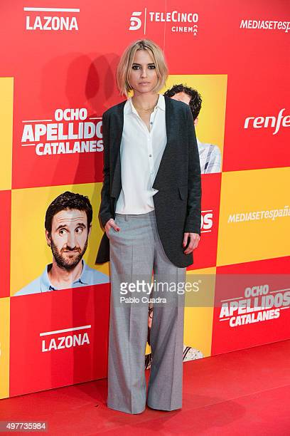 Ana Fernandez attends the 'Ocho Apellidos Catalantes' Premiere at capitol Cinema on November 18 2015 in Madrid Spain