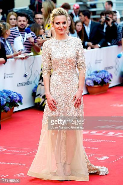 Ana Fernandez attends the 'Solo Quimica' premiere during the 18th Malaga Spanish Film Festival at the Cervantes Theater on April 25 2015 in Malaga...