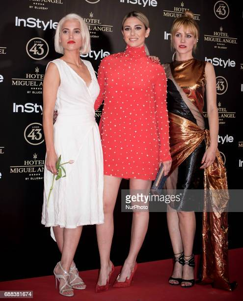 Ana Fernandez Blanca Suarez and Maggie Civantos attend El Jardin del Miguel Angel party photocall at Miguel Angel hotel on May 24 2017 in Madrid Spain