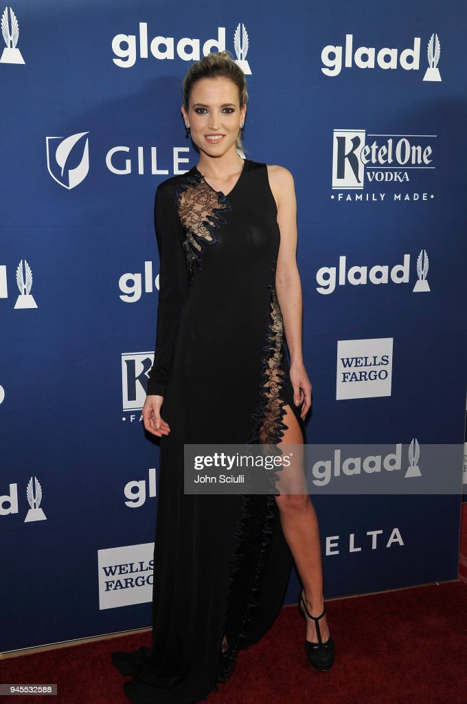 Ana Fernandez celebrates achievements in LGBTQ community at the 29th Annual GLAAD Media Awards Los Angeles, in partnership with LGBTQ ally, Ketel One Family-Made Vodka at The Beverly Hilton Hotel on April 12, 2018 in Beverly Hills, California.