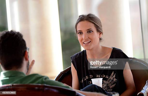 Ana Fernandez is seen on the set of her latest movie 'Solo Quimica' at the Antic Casino de Barcelona on May 26 2014 in Barcelona Spain