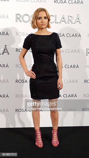 Ana Fernandez poses during a photocall for Rosa Clara's bridal fashion show during 'Barcelona Bridal Fashion Week 2016' on April 26 2016 in Barcelona