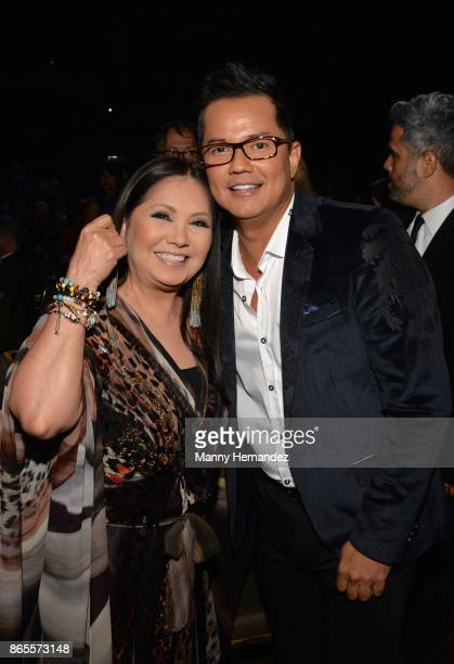 Ana Gabriel and Charlie Zaa at the 5th Annual Latin Songwriters Hall Of Fame's La Musa Award at James L Knight Center on October 19 2017 in Miami...