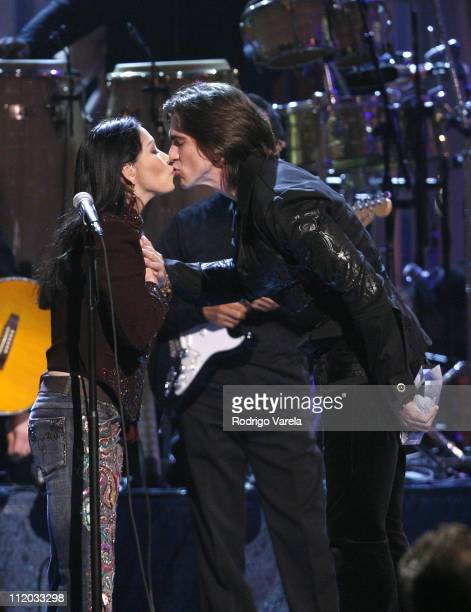 Ana Gabriel and Juanes during 2006 Premio Lo Nuestro Awards Show at American Airlines Arena in Miami Florida United States