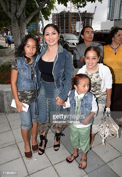Ana Gabriel arrives at American Airlines Arena prior to the RBD concert on July 1 2006 in Miami Florida