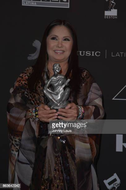 Ana Gabriel attends the black carpet of The MUSA Awards Latin Songwriters Hall of Fame at James L Knight Center on October 19 2017 in Miami Florida