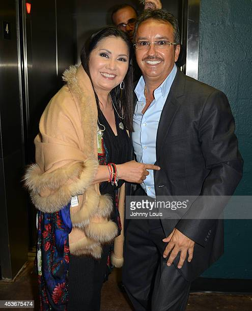 Ana Gabriel backstage on August 16 2014 in Miami Florida