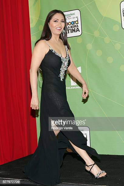 Ana Gabriel during 2005 Billboard Latin Music Awards Press Room at Miami Arena in Miami Florida United States