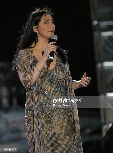 Ana Gabriel during 'A Tribute To Our Heroes' Concert at Naval Station Norfolk in Norfolk Virginia United States