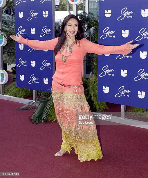 Ana Gabriel during 'Selena iVIVE' Tribute Concert Arrivals at Reliant Stadium in Houston Texas United States