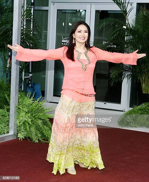 Ana Gabriel during Selena iVIVE Tribute Concert Arrivals at Reliant Stadium in Houston Texas United States